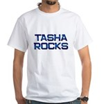 tasha rocks White T-Shirt