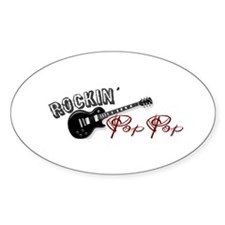 Rockin' Pop Pop (2009) Oval Decal