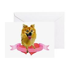 Pomeranian Valentine Greeting Card