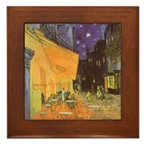 Van Gogh Cafe Terrace Framed Tile