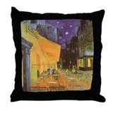 Van Gogh Cafe Terrace Throw Pillow