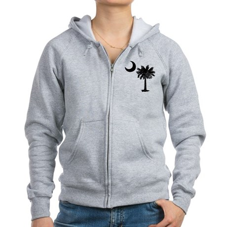 Black Palmetto Women's Zip Hoodie