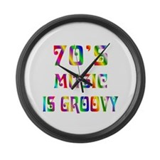 70's Music Large Wall Clock