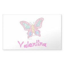 Pink Butterfly Valentina Rectangle Decal