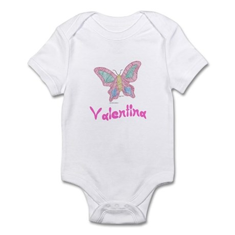 Pink Butterfly Valentina Infant Creeper