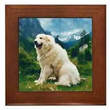 Great Pyrenees Framed Tile, Chien de Montagne
