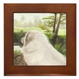Great Pyrenees Framed Tile, In the Field