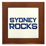 sydney rocks Framed Tile