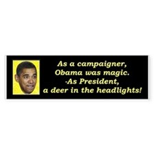 """Deer In The Headlights"" Bumper Sticker"