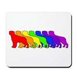 Rainbow Rottweiler Mousepad