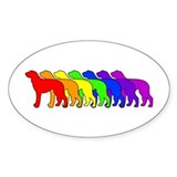 Rainbow Deerhound Oval Decal