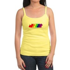 Rainbow Scottie Ladies Top