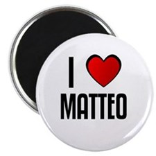 "I LOVE MATTEO 2.25"" Magnet (100 pack)"