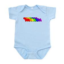 Rainbow Sealyham Infant Bodysuit