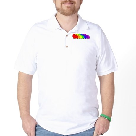 Rainbow Sheltie Golf Shirt