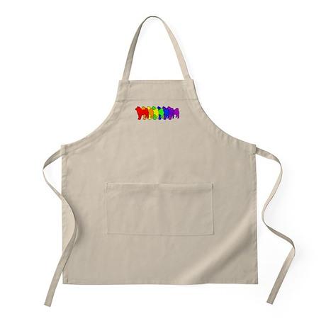 Rainbow Shiba Inu BBQ Apron