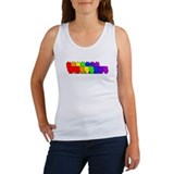 Rainbow Silky Women's Tank Top
