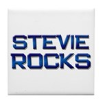 stevie rocks Tile Coaster