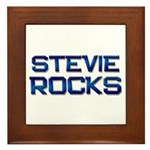 stevie rocks Framed Tile