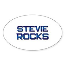 stevie rocks Oval Decal