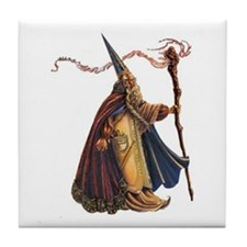 walking wizard Tile Coaster