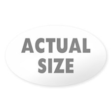 Actual Size Oval Bumper Stickers