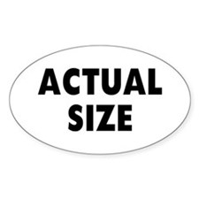 Actual Size Oval Decal