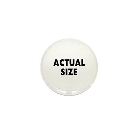 Actual Size Mini Button