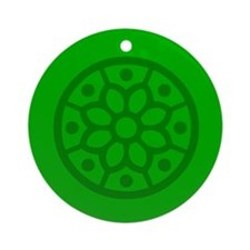 Green Snowflake Ornament (Round)