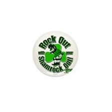 Rock Out with your Shamrock Out Mini Button