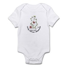 Flower Ribbon LUNG CANCER Infant Bodysuit