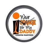 I Wear Orange For My Daddy 9 Wall Clock
