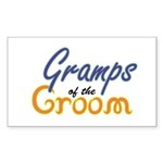Gramps of the Groom Rectangle Sticker