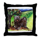 Tibetan Terrier Fall Autumn S Throw Pillow