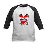 Autism Advocate Tattoo Heart Kids Baseball Jersey