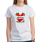 Autism Advocate Tattoo Heart Women's T-Shirt