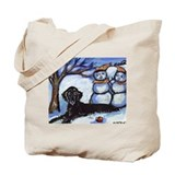 Flattie Winter Season Design Tote Bag