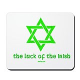 Luck of the Irish Jew Mousepad