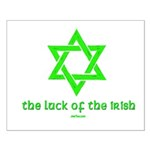 Luck of the Irish Jew Small Poster