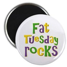 "Fat Tuesday Rocks 2.25"" Magnet (10 pack)"