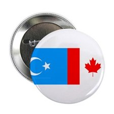 "Uyghur and Canadian Flag 2.25"" Button (100 pack)"