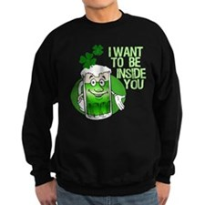 Green Beer Humor Sweatshirt