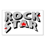 Rock Star Rectangle Sticker