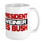 My Weiner Likes Bush Large Mug