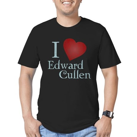 I Love Edward Cullen Mens Fitted Dark T-Shirt