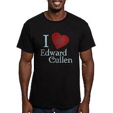 I Love Edward Cullen Mens Fitted Dark T-Shirt