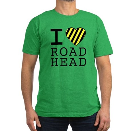 I Love Road Head Mens Fitted Dark T-Shirt