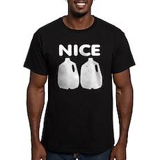Nice Jugs Mens Fitted Dark T-Shirt