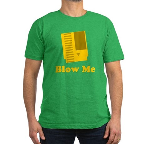 Blow Me Mens Fitted Dark T-Shirt