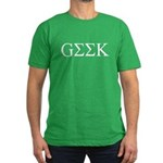Geek in Greek Letters Men's Fitted T-Shirt (dark)